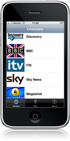 Television no iPhone