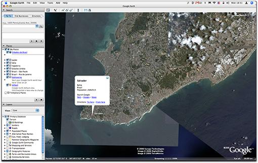 Screen-shot Google Earth