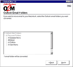 Screen-shot do O2M