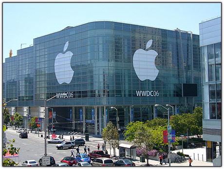 Moscone Center preparado para a WWDC '06