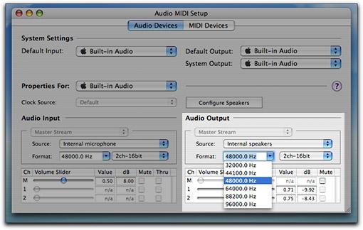 Audio MIDI Setup