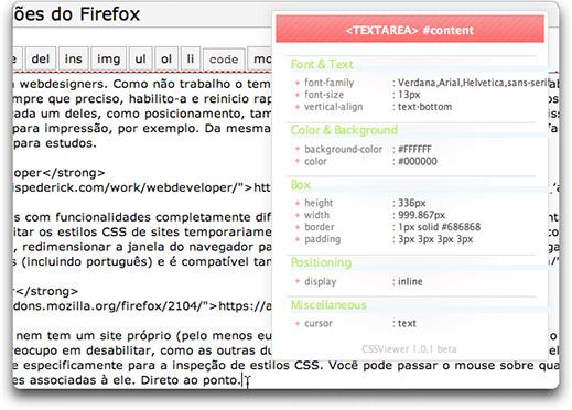 Extensão CSSViewer