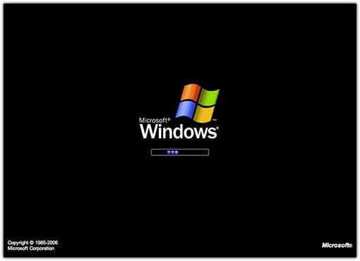 Windows XP loading...