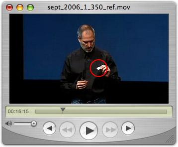 Steve Jobs com novo iPod shuffle