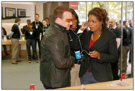 iPod Nano Red com Bono e Oprah