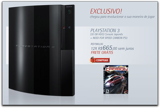 PlayStation 3 na Americanas.com