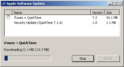 Software Update no Windows XP