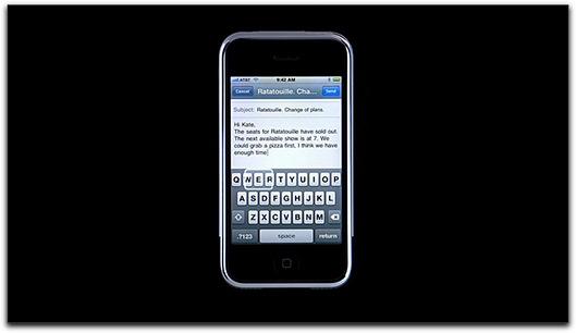 Teclado virtual do iPhone