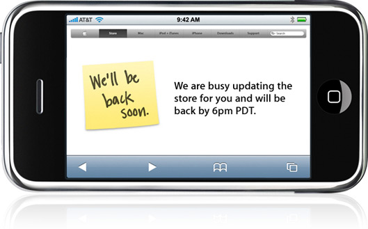 Apple Store fechada para o iPhone