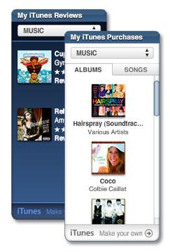 My iTunes widgets