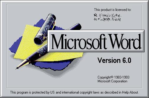 Splash screen do Word 6.0