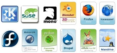 Open source stickers