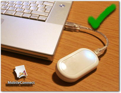 Modem USB testado no Mac