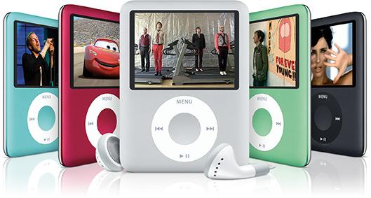 Novos iPods nano