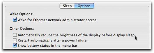 Configuração de display em modo sleep