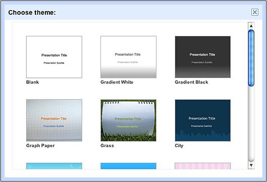 Temas no Google Presentations