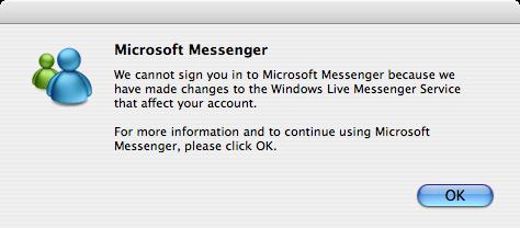 Erro MSN