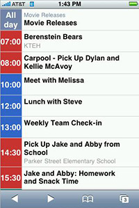 Google Calendar no iPhone