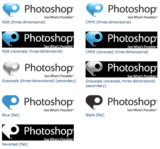 Logo produtos Photoshop - Aplicações