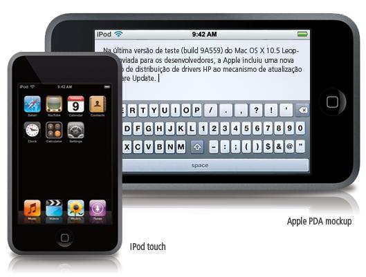 Apple PDA mockup