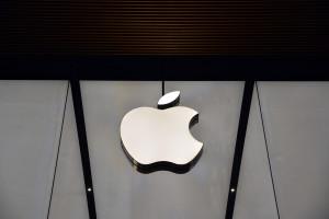 Logo da Apple em loja