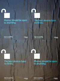 Cartazes da Campanha da Nokia