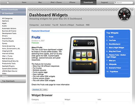 Downloads para o Dashboard