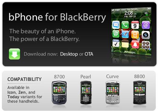 iPhone para Blackberry