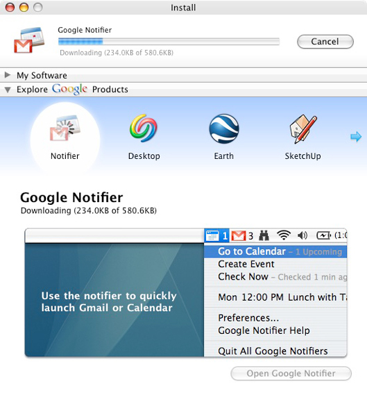 Google Updater - Products
