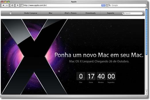 Site da Apple do Brasil (TN)