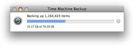 Time Machine rodando