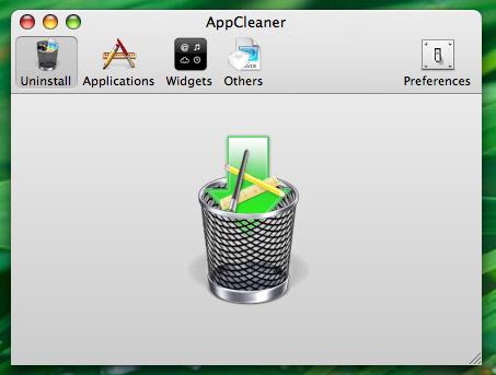 Janela inicial do AppCleaner