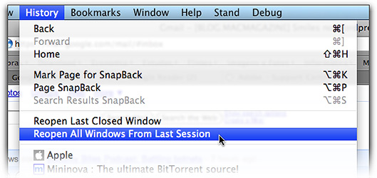 Reopen All Windows From Last Session