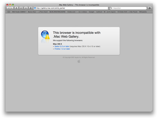 Erro Web Gallery