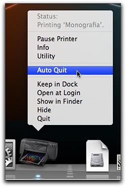 Auto Quit da impressora