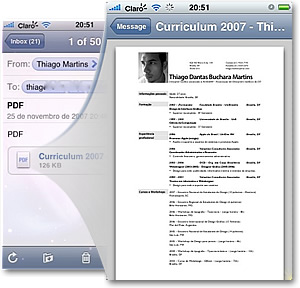 Mail abrindo PDF