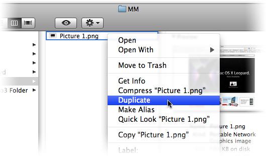 Duplicando arquivo no Finder
