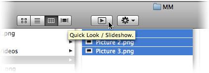 Quick Look/Slideshow