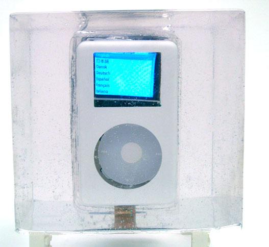Exploded iPod - ligado