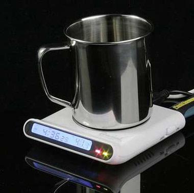 USB Cup Warmer with USB Hub and Clock
