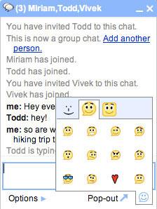 Novos recursos do chat do Gmail