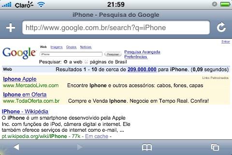 iPhone no Google