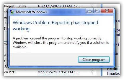 Windows Vista error