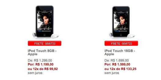 ofertas do iPod touch