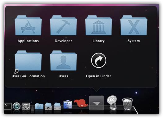 Stacks no Mac OS X 10.5.2