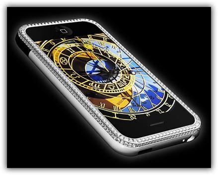 iPhone com brilhantes