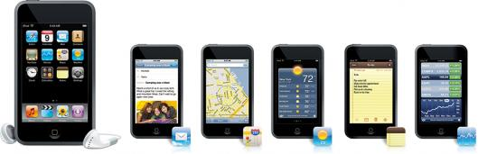 Novos aplicativos do iPod touch