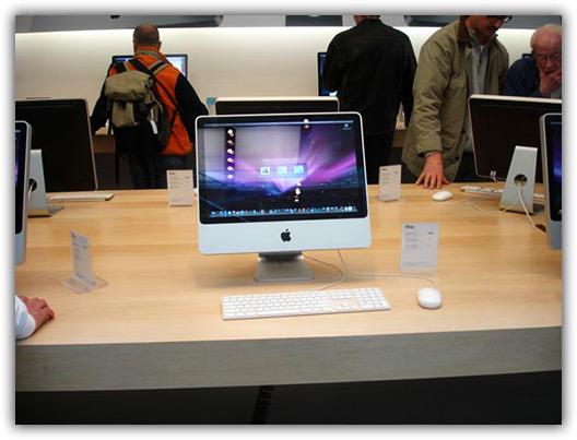 O iMac e sua tela glossy