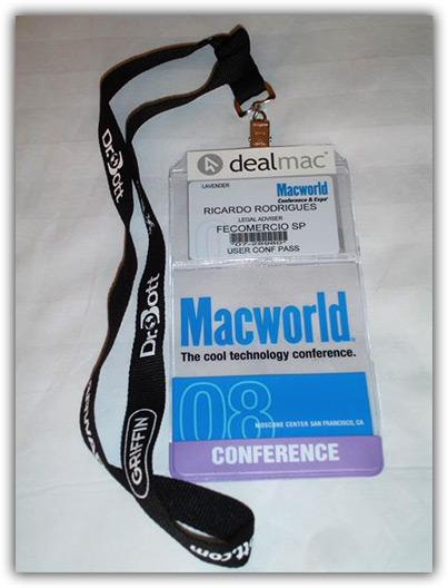 Ingresso para as conferências da Macworld 2008