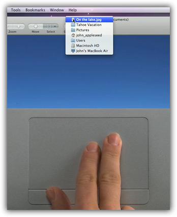 Clique secundário com o trackpad